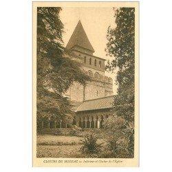 carte postale ancienne 82 MOISSAC. Cloître Saint-Pierre Clocher de l'Eglise