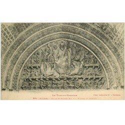 carte postale ancienne 82 MOISSAC. Eglise Saint-Pierre et Tympan du Portail