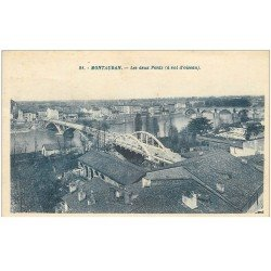 carte postale ancienne 82 MONTAUBAN. Les Deux Ponts