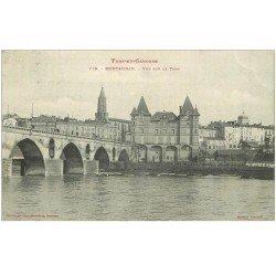 carte postale ancienne 82 MONTAUBAN. Pont sur le Tarn 1904