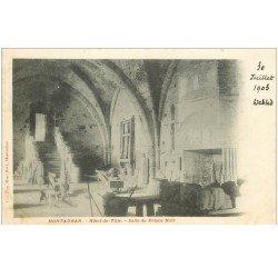 carte postale ancienne 82 MONTAUBAN. Salle Prince Noir Hôtel de Ville 1903. Destinataire au Château d'Ymanville