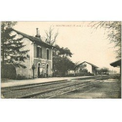 carte postale ancienne 82 MONTRICOUX. La Gare