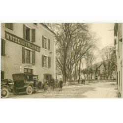 carte postale ancienne 82 SAINT-ANTONIN. Hôtel des Thermes. Un des Hôtels de la Compagnie Fermière voitures anciennes