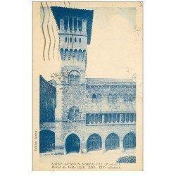 carte postale ancienne 82 SAINT-ANTONIN-NOBLE. Hôtel de Ville 1932