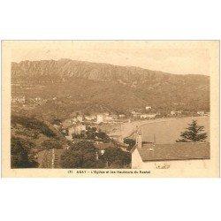 carte postale ancienne 83 AGAY. Eglise et Hauteurs du Rastel 1932