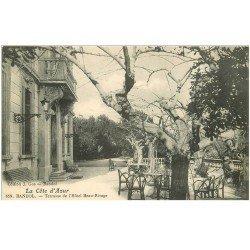 carte postale ancienne 83 BANDOL. Terrasse Hôtel Beau Rivage