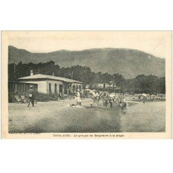 carte postale ancienne 83 CAVALAIRE-SUR-MER. Baigneurs sur la Plage