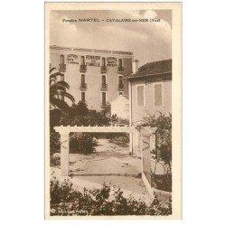 carte postale ancienne 83 CAVALAIRE-SUR-MER. Pension Martel l'Entrée