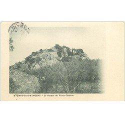 carte postale ancienne 83 HYERES LES PALMIERS. Rocher du Vieux Château 1905