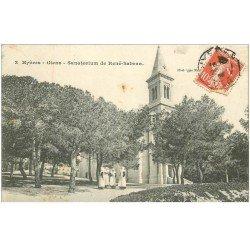 carte postale ancienne 83 HYERES. Giens. Sanatorium de René Sabran avec Bonnes Soeurs vers 1908