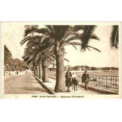 carte postale ancienne 83 SAINT-RAPHAEL. Promenade sur Ane Boulevard Félix Martin 1939