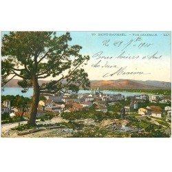 carte postale ancienne 83 SAINT-RAPHAEL. Vue sur la Ville 1915