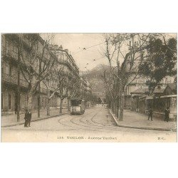 carte postale ancienne 83 TOULON. Avenue Vauban Tramway