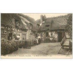 carte postale ancienne 14 HOULGATE. Chaumière Normande Maison des Pêcheurs