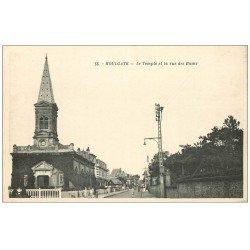 carte postale ancienne 14 HOULGATE. Le Temple Rue des Bains