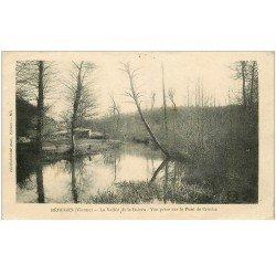 carte postale ancienne 86 BERUGES. Vallée de la Boivre du Pont de Cruché 1919