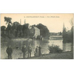 carte postale ancienne 86 CHATELLERAULT. Ile et Moulin Joany