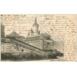 carte postale ancienne 86 CHATELLERAULT. Monument Jardin Public 1905