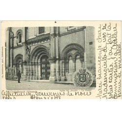 carte postale ancienne 86 CHATELLERAULT. Portail Eglise Saint Jacques 1902