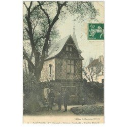 carte postale ancienne 86 CHATELLERAULT. Vieille Maison Square Gambetta 1908