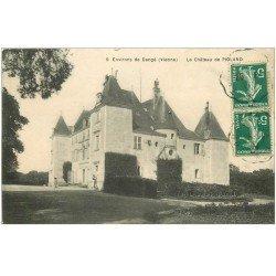carte postale ancienne 86 DANGE. Le Château de Pioland 1911