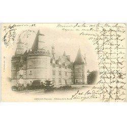carte postale ancienne 86 GENCAY. Château de la Roche 1902 écriture croisée