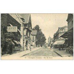 carte postale ancienne 14 HOULGATE. Locations Legris Rue des Bains 1908