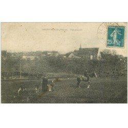 carte postale ancienne 86 LEIGNE LES BOIS. Cavalier et Chevrière avec enfants 1924