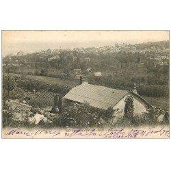 carte postale ancienne 14 HOULGATE. Panorama avec Jardiniers 1904