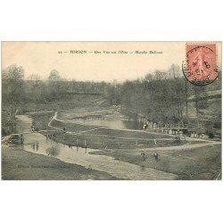 carte postale ancienne 02 HIRSON. Moulin Delloue 1907