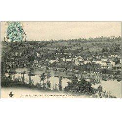 carte postale ancienne 87 AIXE SUR VIENNE. Vue générale sur la Ville 1904