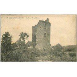carte postale ancienne 87 ARNAC LA POSTE. Tour de Lubignac 1930