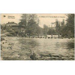 carte postale ancienne 87 CHAMBON. Concours avec Pêcheurs sur Gué au Moulin de Chambon sur la Briance