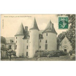 carte postale ancienne 87 CHATEAU DE BRIGNAC 1909