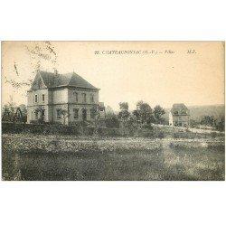 carte postale ancienne 87 CHATEAUPONSAC. Villas 1928