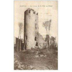 carte postale ancienne 87 DARNAC. Ruines de la Côte au Chapt 1933