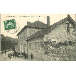 carte postale ancienne 87 EYJEAUX. Ecole Communale Avenue de la Mabareite 1910 nombreux écoliers. Impeccable