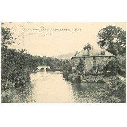 carte postale ancienne 87 EYMOUTIERS. Moulin sur la Vienne 1921