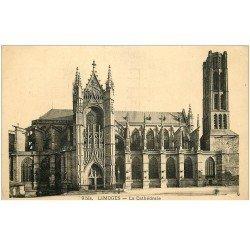 carte postale ancienne 87 LIMOGES. Cathédrale 1940
