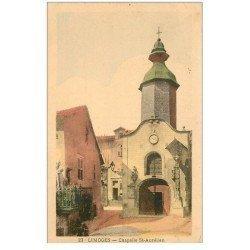 carte postale ancienne 87 LIMOGES. Chapelle Saint Aurélien 1944