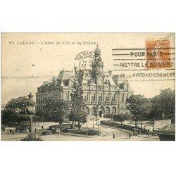 carte postale ancienne 87 LIMOGES. Hôtel de Ville et Jardins 1927