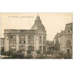 carte postale ancienne 87 LIMOGES. Hôtel des Postes et Télégraphes