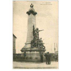 carte postale ancienne 87 LIMOGES. Monument des Mobiles