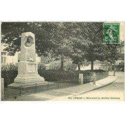 carte postale ancienne 87 LIMOGES. Monument du Docteur Chénieux 1913