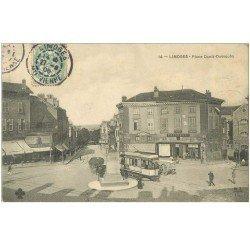 carte postale ancienne 87 LIMOGES. Place Denis Dussoubs 1906