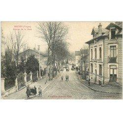 carte postale ancienne 88 ARCHES. Hôtel Moderne Avenue de la Gare 1917. Détachée d'un cahier
