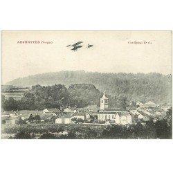 carte postale ancienne 88 ARCHETTES. Aéroplane sur le Village