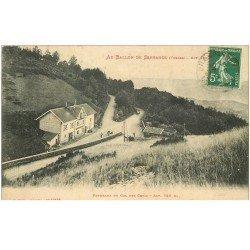 carte postale ancienne 88 AU BALLON DE SERVANCE. Col des Croix 1914 Café Tabac