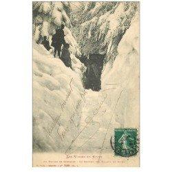 carte postale ancienne 88 AU BALLON DE SERVANCE. Douaniers au Sentier des Mulets 1914
