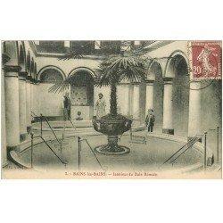 carte postale ancienne 88 BAINS LES BAINS. Bain Romain 1925 animation